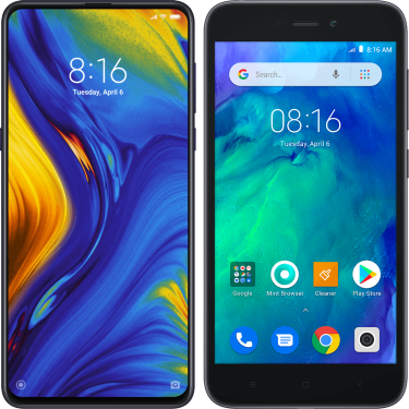 Xiaomi Mi Mix 3 + Redmi Go