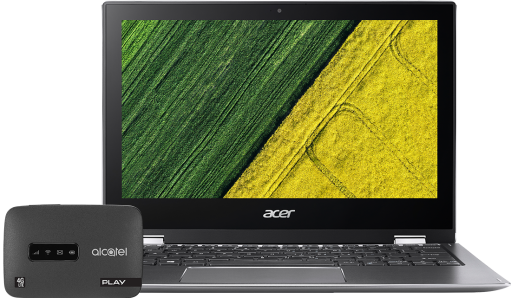Acer Spin 1 + router LinkZone