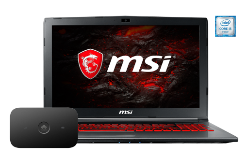 MSI GV62 7RE i5 + router E5573Cs
