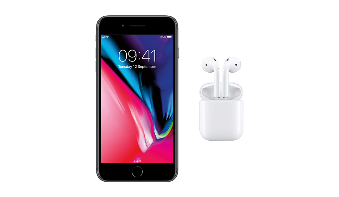Apple iPhone 8 64 GB + AirPods