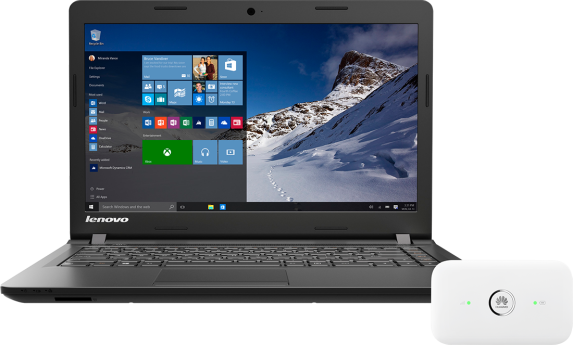 Lenovo IdeaPad 100 500 GB + router LTE