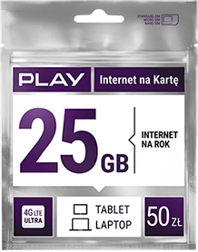 Play Internet na Kartę 25GB