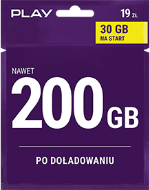 Play Internet na Kartę 30GB