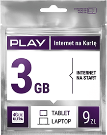 Play Internet na Kartę 3GB