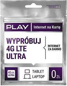 Play Internet na Kartę 4G LTE ULTRA